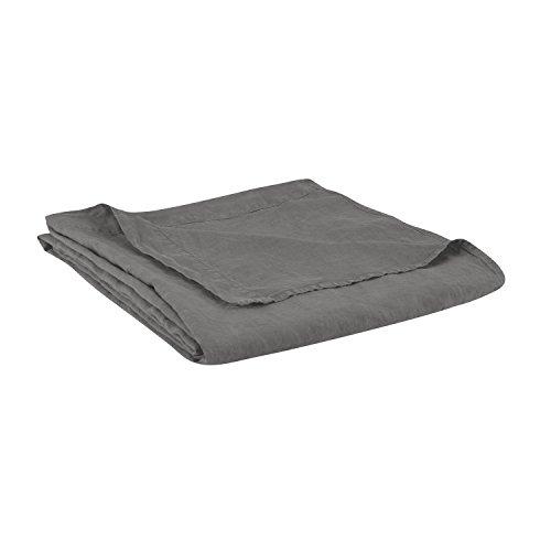BLANC CERISE Drap plat en lin lavé véritable 180x290 cm