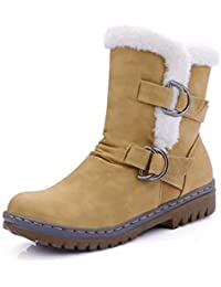 visionreast Damen Klassischer Winter Boots Schneestiefel Halbstiefel Warme  Gefüttert Schlupfstiefel Winterschuhe… 507ca9b8ed