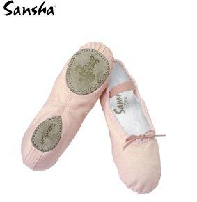 SANSHA 15C STAR-SPLIT Chaussure de danse Demi-pointes pour AdulteS en Toile - Femme - Rose (2608) - 26 EU (Taille Fabricant: C)