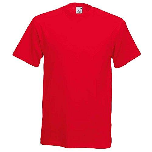 Fruit of the LoomHerren T-Shirt Red