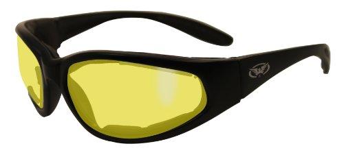 Gelb getönt Schiessbrille mit EVA-Schaum Futter und bruchsicher anti og Linsen mit freiem Microfaser Aufbewahrungstasche.