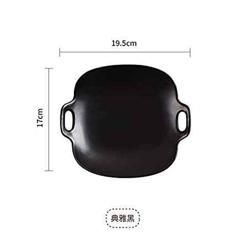 LGK&FA Gegenstände Zum Tisch- Und Küchengebrauch Quadratische Teller Im Westlichen Stil Nudeln Bestand Mittelplatte Dessertteller B