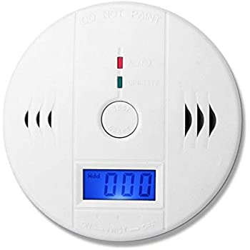 Hoonee Carbon Monoxide Detector with Digital Display/& CO Detector Alarm with Rechargeable Battery for Detection of Home CO Alarm Detector