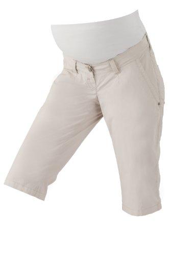 Christoff Capri-Hose Schwangerschaftsjeans Umstandshose Jeans Rügen - Skinny Slim - elastisches Bauchband - 836-89 - Sand beige - Gr. 36 -