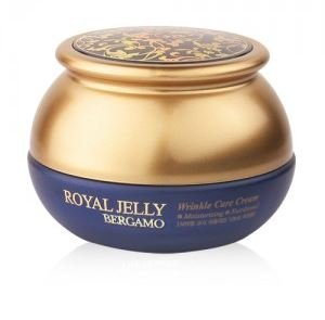 Bergamo Korean Natural Pure Organic Royal Jelly Extract Moisturizing Nutritional Wrinkle Care Anti Aging Cream 50g