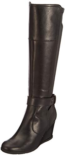 Geox Damen D Inspiration Wedge B Stiefel, Schwarz (Black), 40 EU -