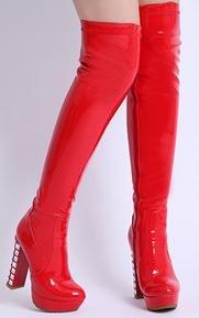 Laruise , Sandales Plateforme femme Rouge