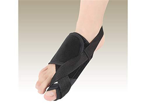 Natürlicher Bimsstein Verstärkte Toe Aligner Hallux Valgus Orthesen Zehenkorrektoren Toe Pain Relief für Männer und Frauen (Schwarz)