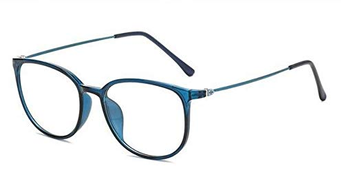 zywddp Ultra-Light Glasses Frame, Unisex Fashion Flat Glasses, Blue Frame