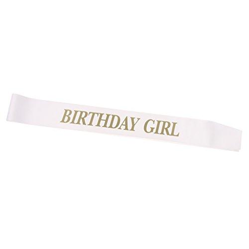 MagiDeal ''Birthday Girl'' Satin Schärpe - Happy Birthday Party Deko Zubehör für 16. 18. 21. Geburtstag (Sash Birthday Happy)
