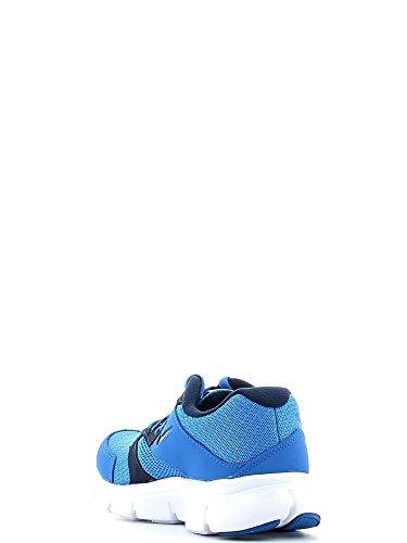 Nike  Flex Experience 3 (Gs), Chaussures de running garçon Blanc / bleu (bleu Photo / blanc / bleu marine minuit)