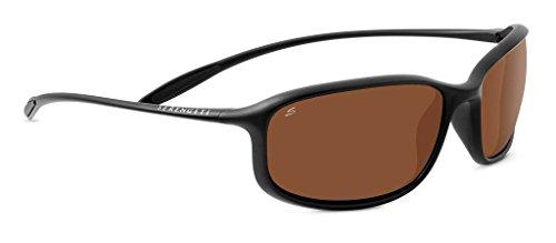 Serengeti Eyewear Erwachsene Sestriere Sonnenbrille, Satin Black, Small/Medium
