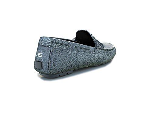 DIS Chaussures Sur Mesure - Mocassin - Homme autruche Argent