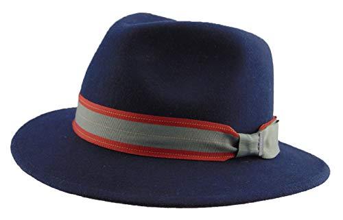 Stetson - Cappello Fedora - Uomo 2-Blau Medium c0ee83ad4a9f