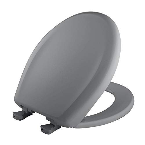 |Bemia||#Bemis 200SLOWT 032 Whisper Close Round Closed Front Toilet Seat,Country Grey,|