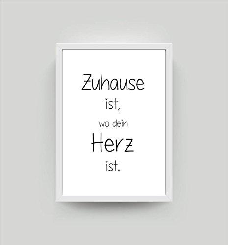 Kunstdruck mit Spruch Zuhause... DIN A4 Bild K023