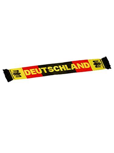 Fussball Fun T-Shirt Fussball Set mit Deutschland Schal Männer Fun Trikot Fußball Manschaft Fussballfan Shirt Schwarz