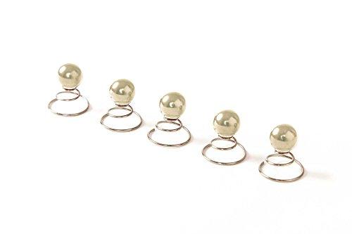 Lot de 5 épingles en spirale ornées de perles - accessoire pour cheveux/coiffure de mariée - 10 mm - beige