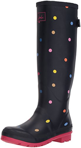 Tom Joule Damen Y_Wellyprint Gummistiefel, Blau (Navy Pop Spot), 39 EU