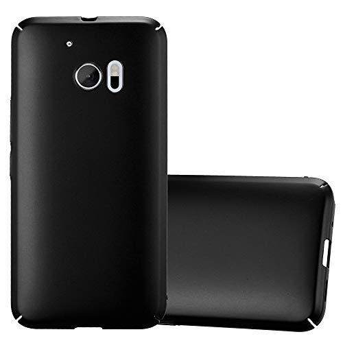 Cadorabo Hülle für HTC 10 (One M10) - Hülle in Metall SCHWARZ - Hardcase Handyhülle im Matt Metal Design - Schutzhülle Bumper Back Case Cover