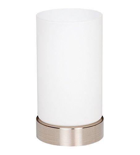 "Trango LED Glas Nachttischlampe Tischleuchte\""Paula\"" inkl. 1x E14 LED Leuchtmittel 3000K warm-weiß TG2017-01"