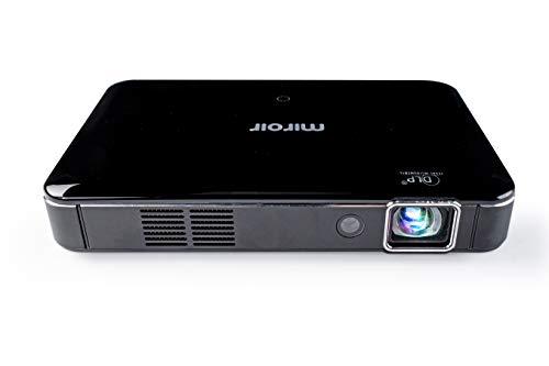 Miroir - Mini-Projektor HD Pro mit Auflösung 1280x720p - 400 Lumen Videoprojektor - USB-C-Eingang für Video und Ladung - Perfekt für Arbeit, Gaming und Heimkino - Schwarz - Hohe Auflösung-adapter