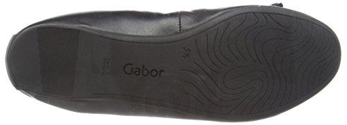 Gabor Ribera - Ballerine donna Nero (Nero (Black Leather))
