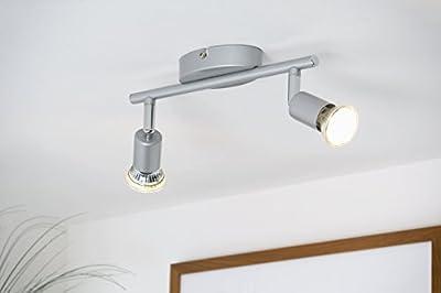 LED Deckenleuchte LED Deckenlampe LED Deckenspot LED Deckenstrahler GU10 warmweiß schwenkbar titanfarbig von B.K.Licht