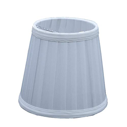 Renile Vintage Stoffplissiert Lampenschirm-Halter für Kronleuchter, Tisch, Bett, silber -
