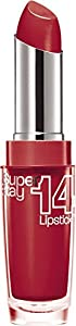 3 x Maybelline Superstay 14 Hour Wear Lipsticks 3.5g - 510 Non-Stop Red
