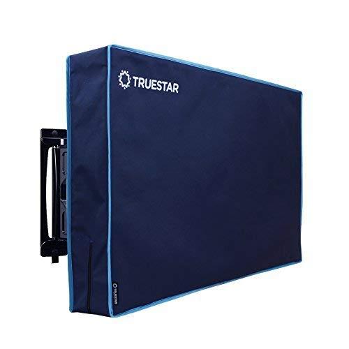 Truestar Outdoor Wasserdichte Schutzhülle für 36-38 Zoll LCD/LED/Plasma TV-Bildschirme - 420D Oxford-Stoff mit blauem Vlies 36