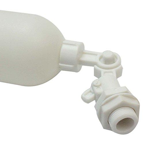 Merssavo Weiß Kunststoff Einstellbare Schwimmerkugelhahn für Aquarium Aquarium Umkehrosmose System
