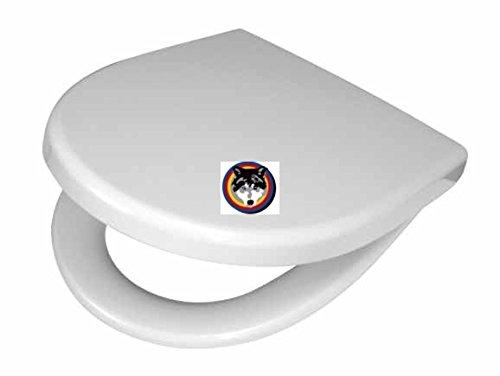 FORMAT Design WC-Sitz mit Scharniere Edelstahl Farbe weiss