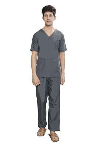 FAB UNIFORMS Unisex Scrub Suit (Grey, 42)