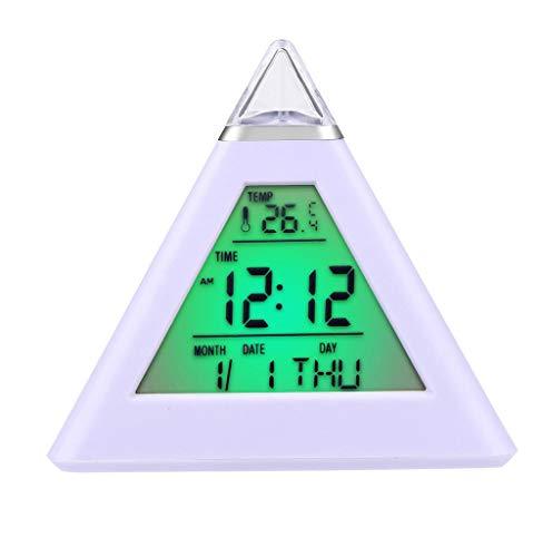 Tomatoa Funk-Wanduhr Digitale Uhr Mode-kreative Smart Clock LED Snooze Alarm Kalender Temperatur LCD-Display Wecker und Kalender (Moderne Uhr Und Kalender)