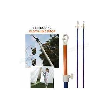 Ik Onkar 2 X 2.6M Heavy Duty TELESCOPIC CLOTH LINE PROP OUTDOOR RETRACTABLE