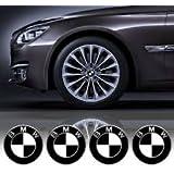 4 x 65mm Diameter Wheel Cap Sticker Self Adhesive Logo Emblem For BMW BW