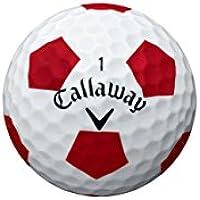 Callaway Golf 2016Cromo Suave Pelotas de Golf, Color Blanco/truvis patrón