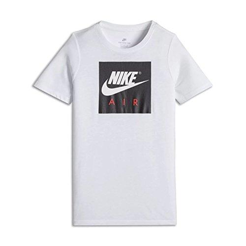 Nike Jungen Athletic Shirt (Nike Jungen Air Logo T-Shirt, Weiß, XS)