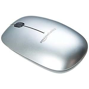 AmazonBasics Souris Bluetooth au design fin, Argenté