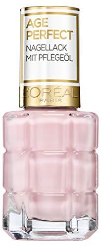 L'Oréal Paris Age Perfect Nagellack mit Pflegeöl in Nr. 116 dimanche après-midi, für glatte und glänzende Nägel, in rosé, 13,5 ml - Pflegende Rose