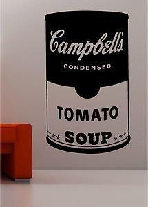 Online Design Andy Warhol Stile Zuppa Latta Pop Art Adesivo Frase Artistica Da Parete Vinile Cucina Salotto - Blu
