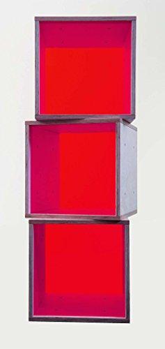 iCube das Regal mit roter Plexiglasscheibe 3er Set in PREMIUM QUALITÄT