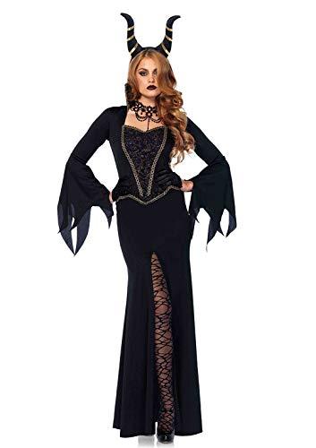 Leg Avenue 85535 - Kostüm Set Böse Zauberin, Damen Fasching, XL, schwarz (Für Erwachsene Bösen Zauberin Kostüm)