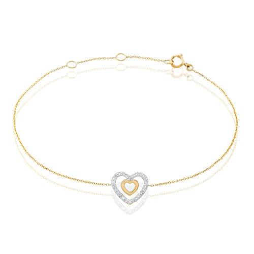 HISTOIRE D'OR - Bracelet Or et Diamant - Femme - Or jaune 375/1000