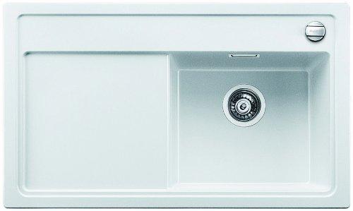 Preisvergleich Produktbild Blanco Zenar 45 S-F Weiß Granitspüle Spülbecken Spültisch Flächenbündig Küche