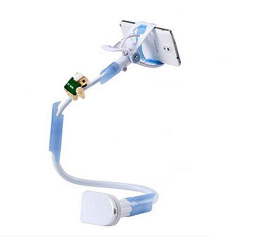 DAYAN cellulare stand Tablet Monte 85 centimetri lungo bullone fissaggio con staffa dispositivi 3.5-6.3 pollici 360 gra rotazione braccio flessibile blu - Staffa Bullone