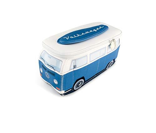 BRISA VW Collection VW T2 Bulli BusUniversal-Tasche im 3D-Design aus Neopren (blau)