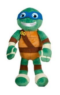Ninja Turtles (Teenage Mutant Ninja Turtles) - Plüsch Leonardo (blau 32cm) neuen Film Half-Shell Heroes, Qualität soft - azul (Turtles Mutant Blaue Teenage Ninja)