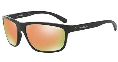Arnette Herren 0AN4234 41/4Z 61 Sonnenbrille, Schwarz (Black/Greymirrorrosegold),